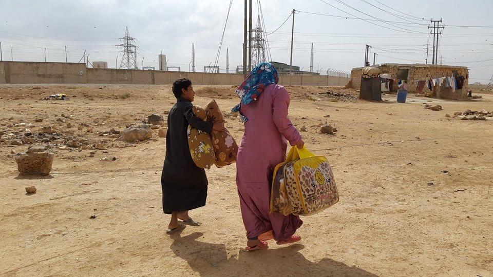 Distribuiti i kit alloggio nei campi profughi