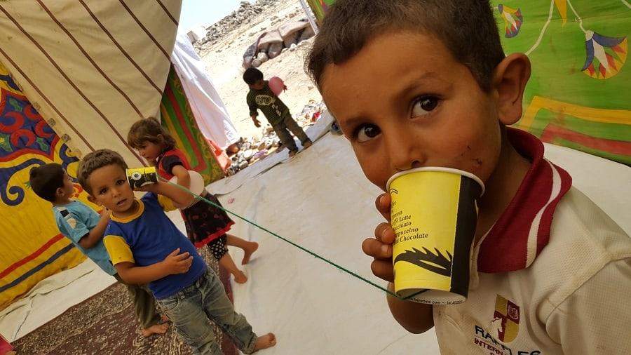 Attività educative con i bambini siriani