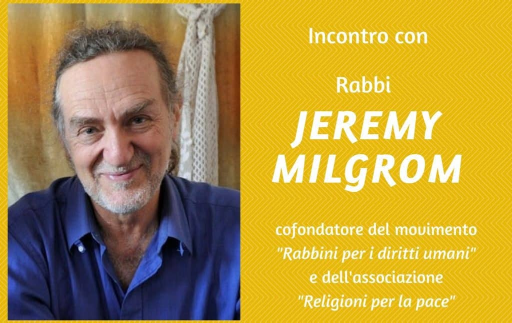Tour of conferences about peace in the Middle East with rabbi Jeremy Milgrom