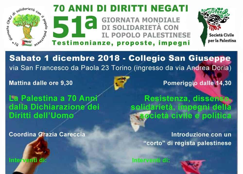 51ª Giornata ONU di Solidarietà con il Popolo Palestinese